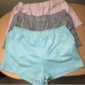 Forever 21 faux suede shorts with pockets